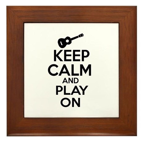 Ukulele lover designs Framed Tile