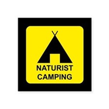 "Naturist Square Sticker 3"" x 3"""