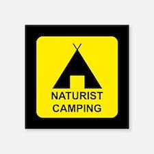 "Naturist Square Sticker 3"" x 3"""