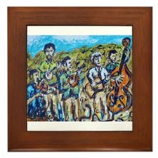 Del McCoury Painting Framed Tile