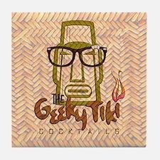 """""""The Geeky Tiki"""" Tiki Bar Tile Coaster"""