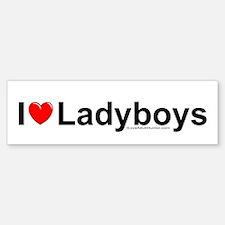 Ladyboys Sticker (Bumper)