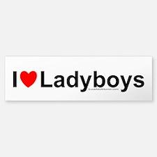 Ladyboys Car Car Sticker