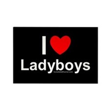 Ladyboys Rectangle Magnet