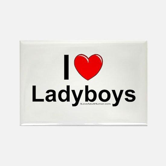Ladyboys Rectangle Magnet
