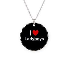 Ladyboys Necklace Circle Charm