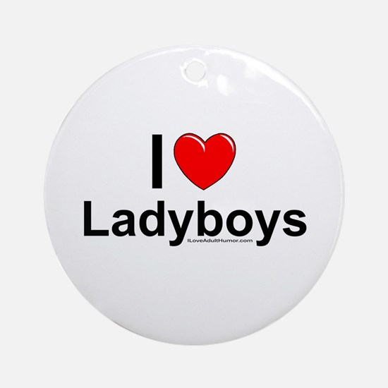 Ladyboys Ornament (Round)