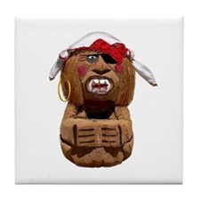 COCONUT MONKEY PIRATE Tile Coaster