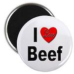 I Love Beef Magnet