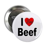 I Love Beef Button