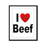 I Love Beef Framed Panel Print