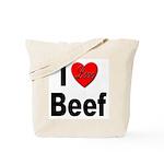I Love Beef Tote Bag