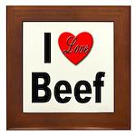 I Love Beef Framed Tile