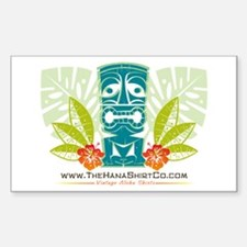 Hana Shirt Co. Tiki style Rectangle Decal