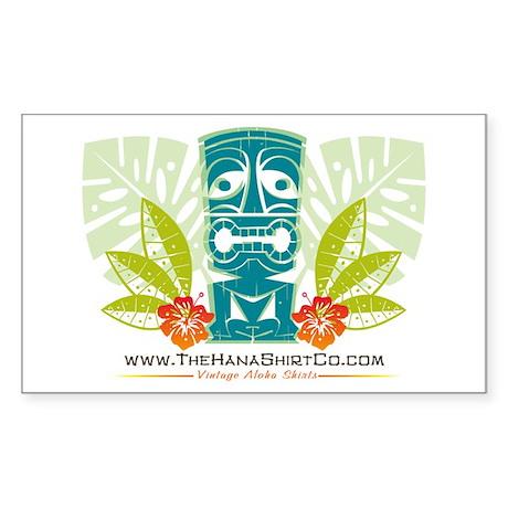 Hana Shirt Co. Tiki style Rectangle Sticker