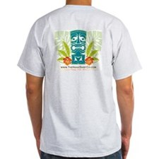 Hana Shirt Co. Tiki style Ash Grey T-Shirt