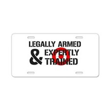 Legally Armed Expertly Trained Aluminum License Pl