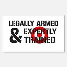 Legally Armed Expertly Trained Sticker (Rectangle)