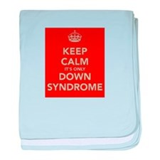 Kee Calm It's Only Down Syndrome baby blanket
