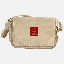 Kee Calm It's Only Down Syndrome Messenger Bag