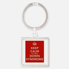 Kee Calm It's Only Down Syndrome Square Keychain