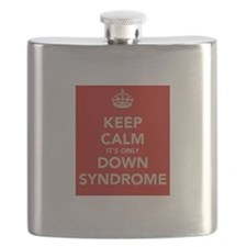 Kee Calm It's Only Down Syndrome Flask