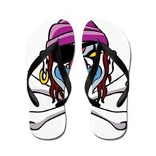 Smiling Pirate Clown Flip Flops