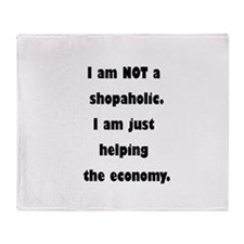 Shopaholic Throw Blanket