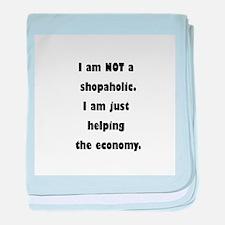 Shopaholic baby blanket