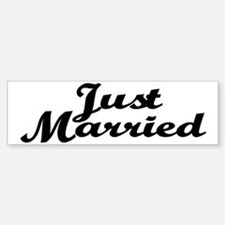 Just Married Bumper Car Car Sticker