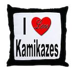 I Love Kamikazes Throw Pillow