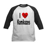 I Love Kamikazes Kids Baseball Jersey
