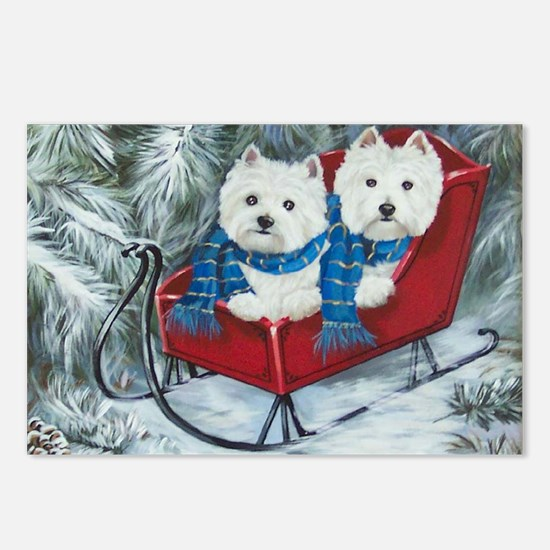 Westies paddy and shanny rescues Postcards (Package of 8)