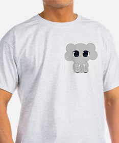 Chibi Tomodachi Elephant Ash Grey T-Shirt