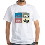 Greyhound Mens White T-shirts