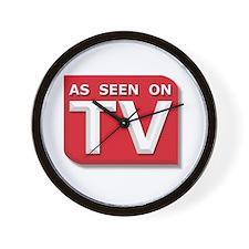 Funny As Seen on TV Logo Wall Clock