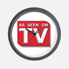 Funny As Seen on TV Logo Wall Clock