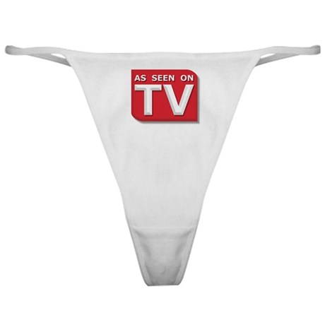 Funny As Seen on TV Logo Classic Thong