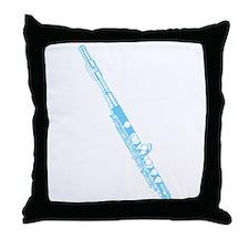 Light Blue Flute Throw Pillow