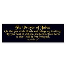 Jabez Prayer Bumper Bumper Sticker