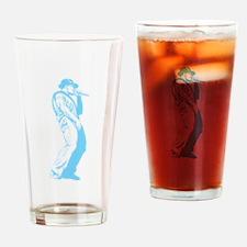 Light Blue Old School MC Drinking Glass