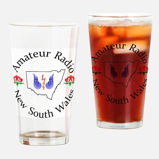 Amateur Radio NSW Logo Drinking Glass