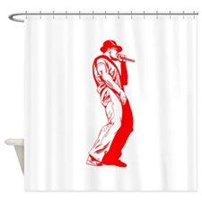 Red Old School MC Shower Curtain