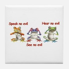 Three Frogs Tile Coaster