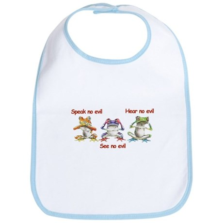 Three Frogs Bib