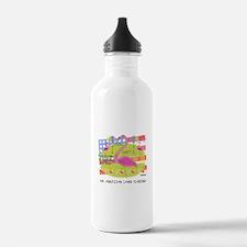 Flamingo Lawn Art Water Bottle