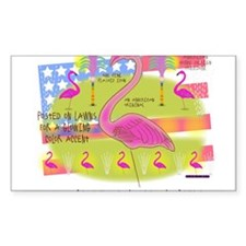 Flamingo Lawn Art Decal