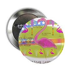"""Flamingo Lawn Art 2.25"""" Button"""