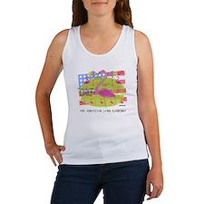 Flamingo Lawn Art Women's Tank Top