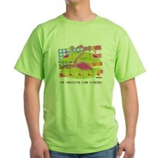 Flamingo Lawn Art T-Shirt